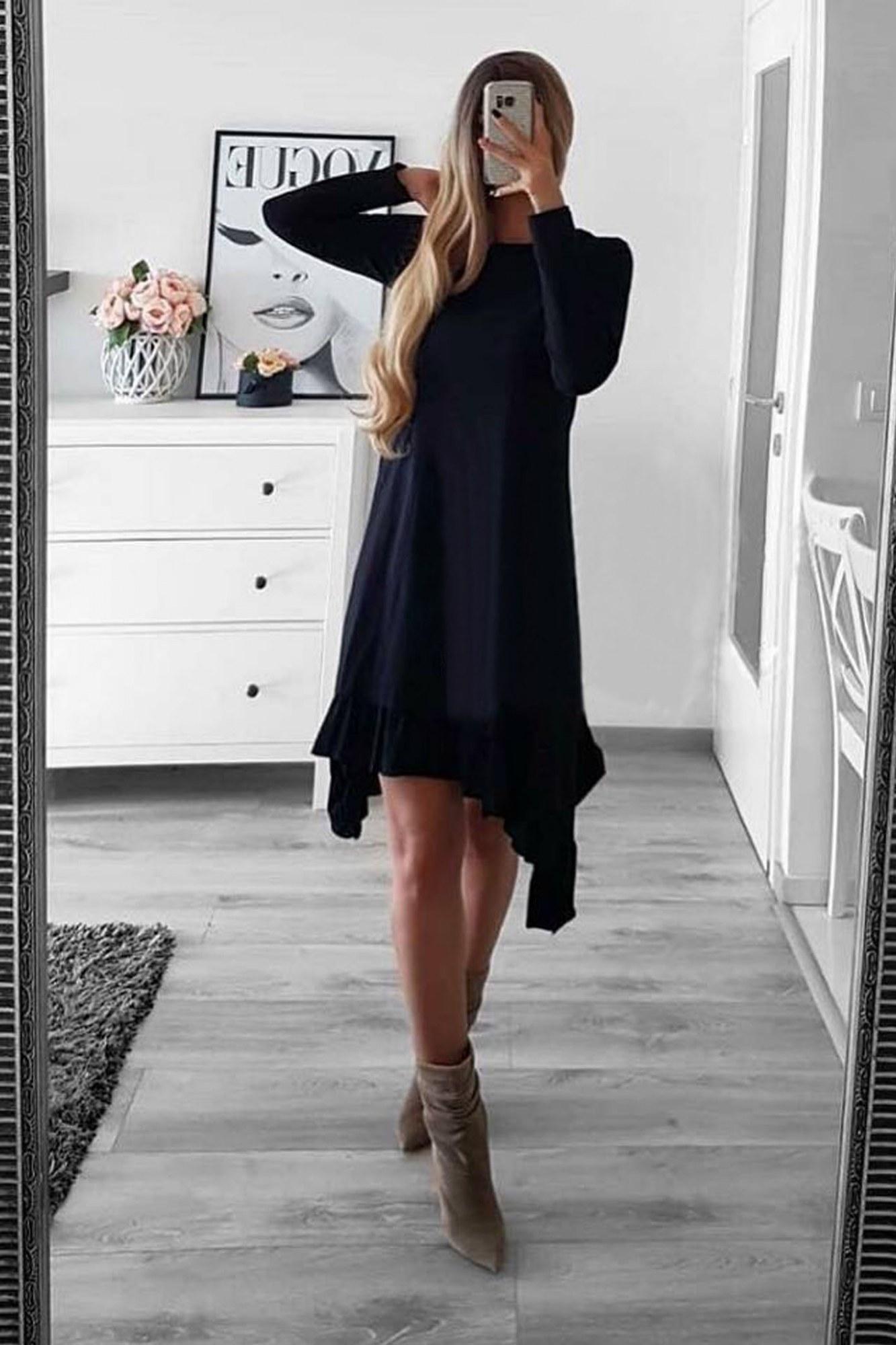 Φόρεμα μαύρο ασύμμετρο