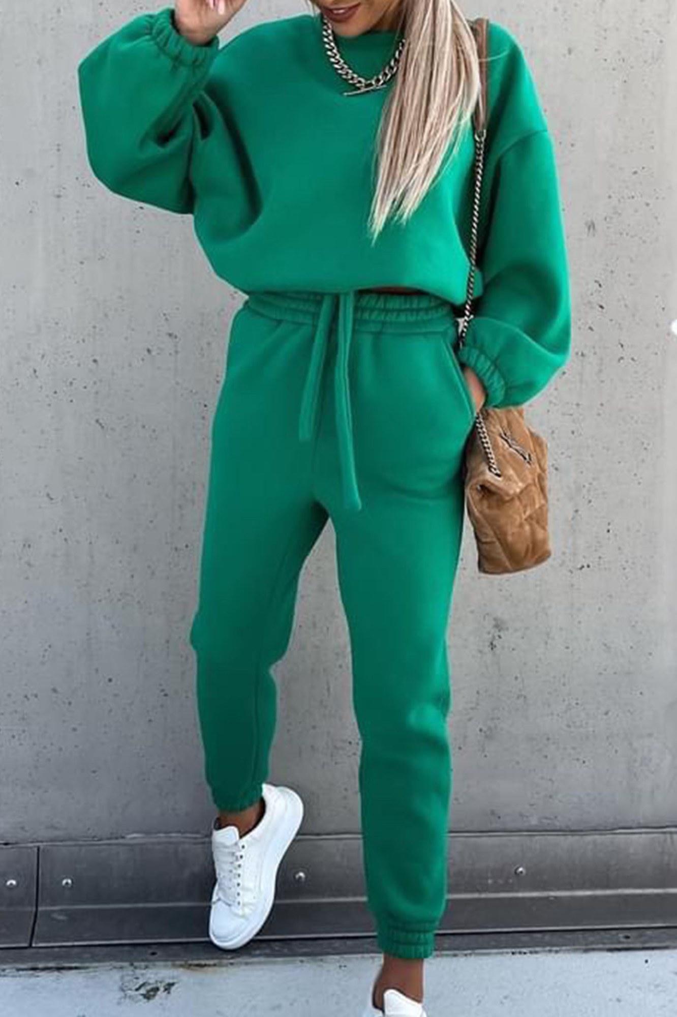 Σετ φόρμες φούτερ cargo style - Πράσινο