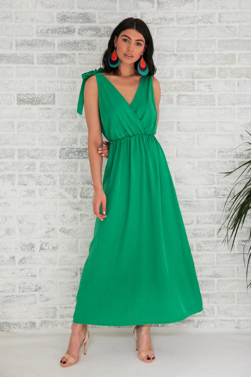 e7b153cc5b4 Φόρεμα πράσινο μακρύ   Owtwo