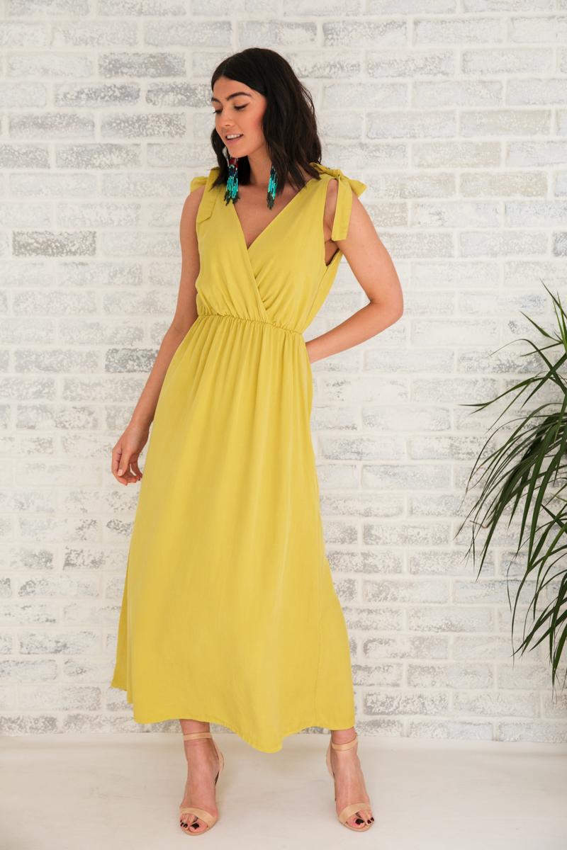 8a2e3f63468 Φόρεμα κίτρινο μακρύ   Owtwo