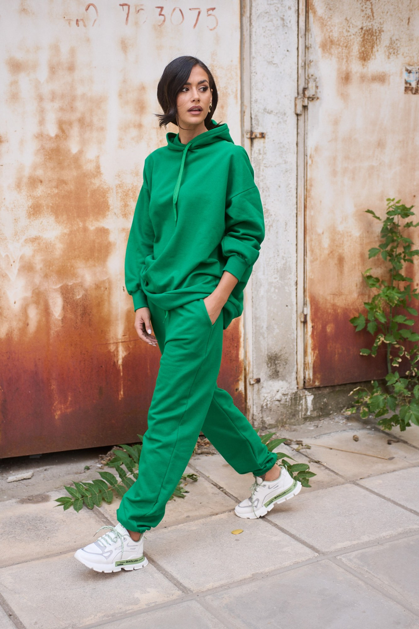 Σετ φόρμες φούτερ με jogger - Πράσινο