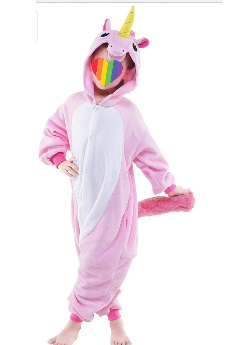 Onesie unicorn pink for kids