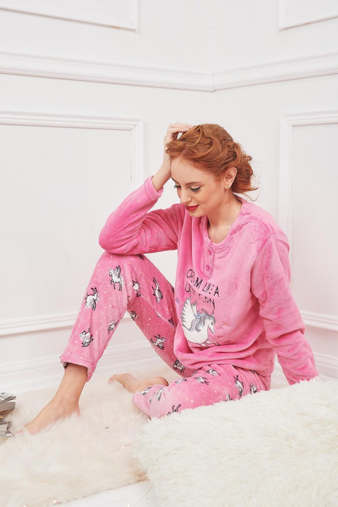 Σετ πυτζάμες ροζ μονόκερος
