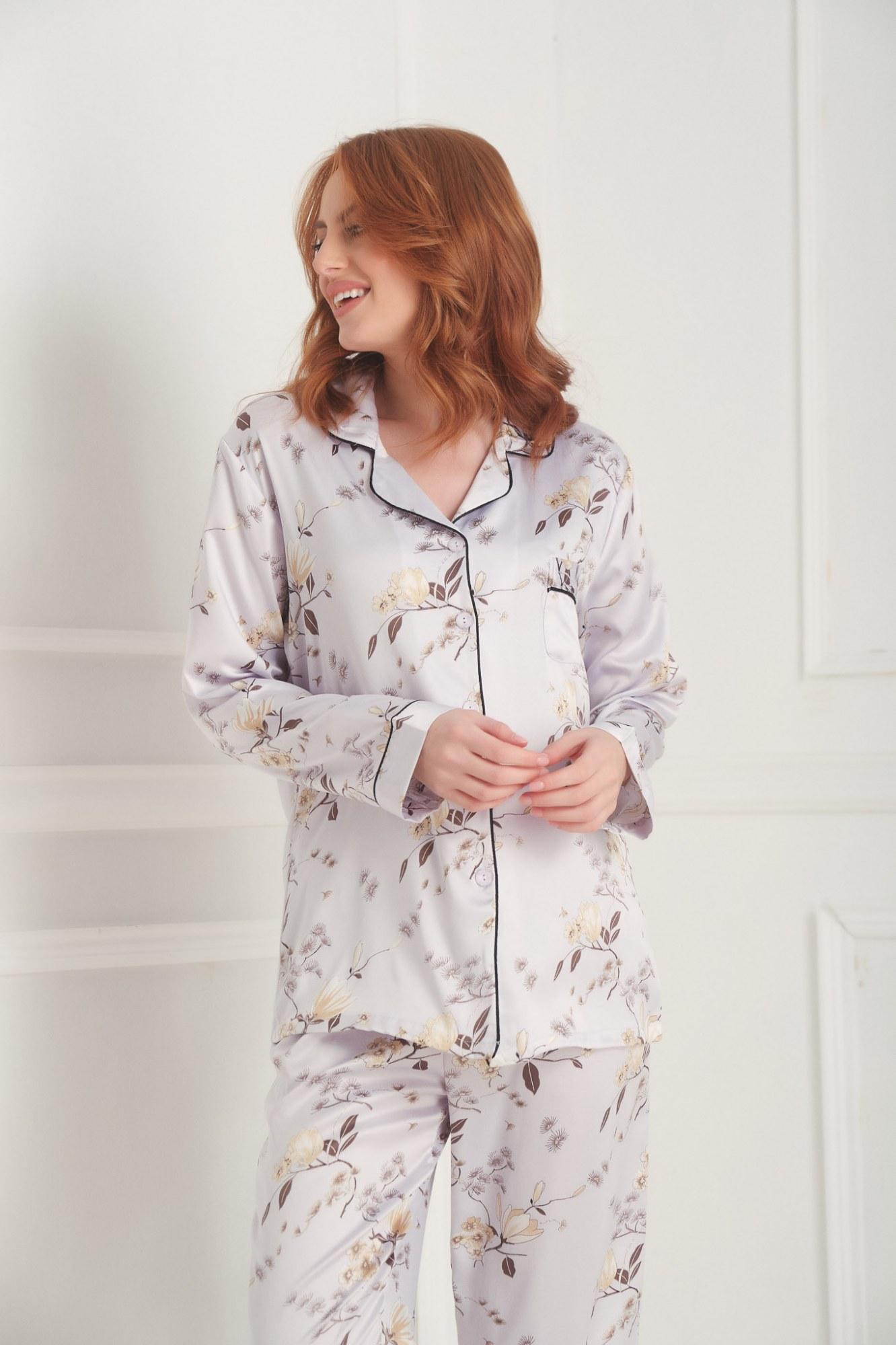 Σετ πυτζάμες σιελ floral