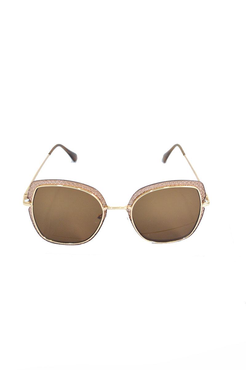 bde3e371ab4 Γυαλιά ηλίου καφέ με χρυσό περίγραμμα