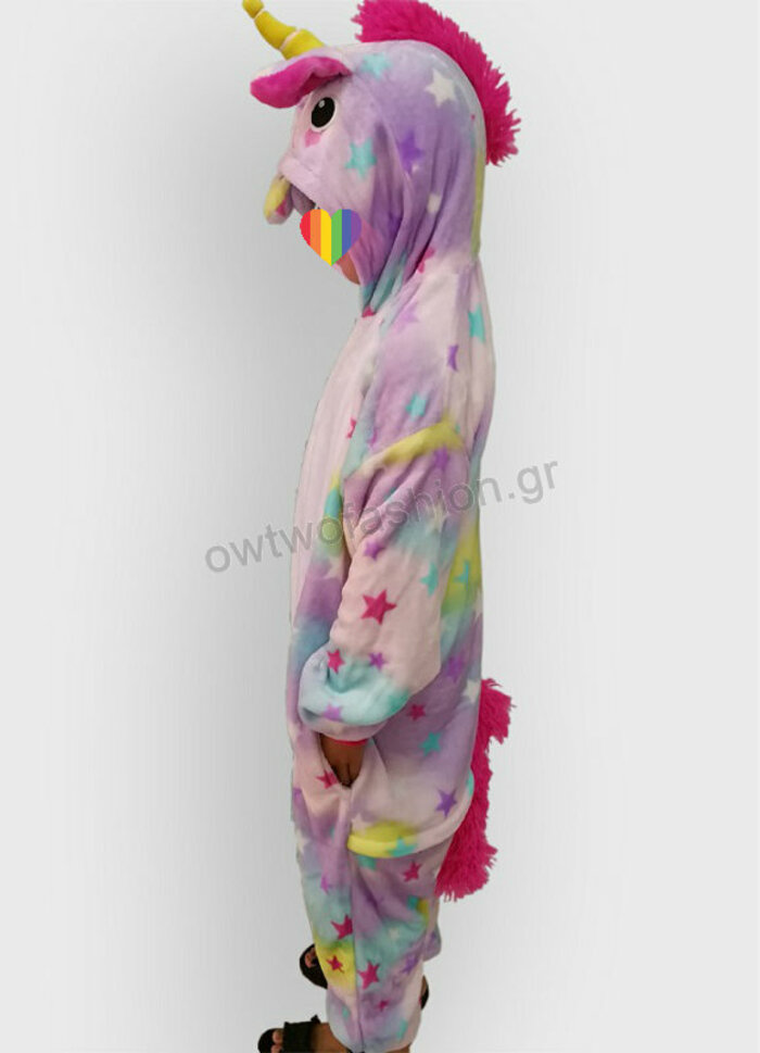 Onesie unicorn with stars for kids