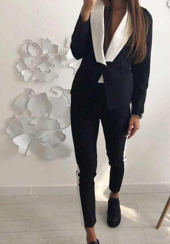 Κοστούμι μαύρο με λευκό ... 675e0d73957