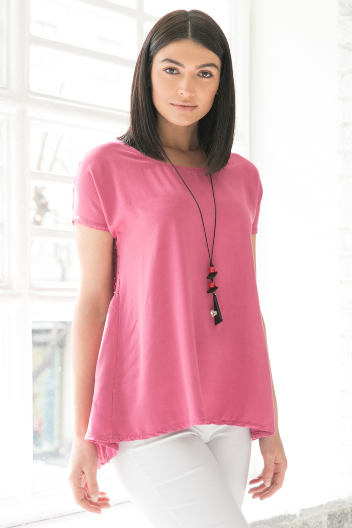 fa1704c59dc6 Μπλούζα κοντομάνικη ροζ
