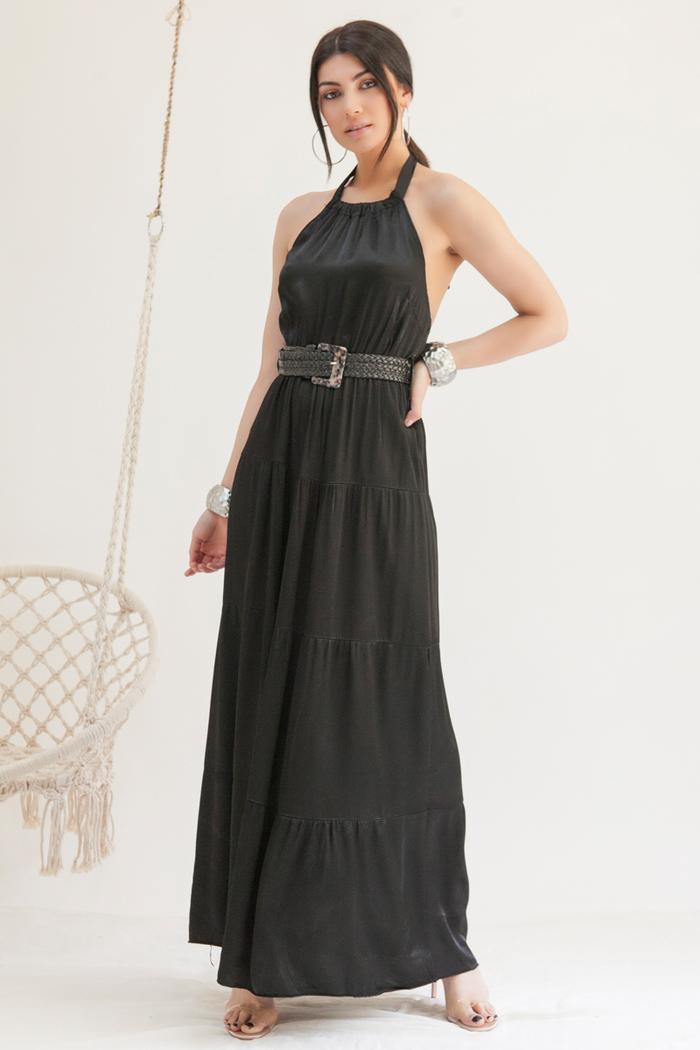 70f429f03b69 Φόρεμα maxi μαύρο