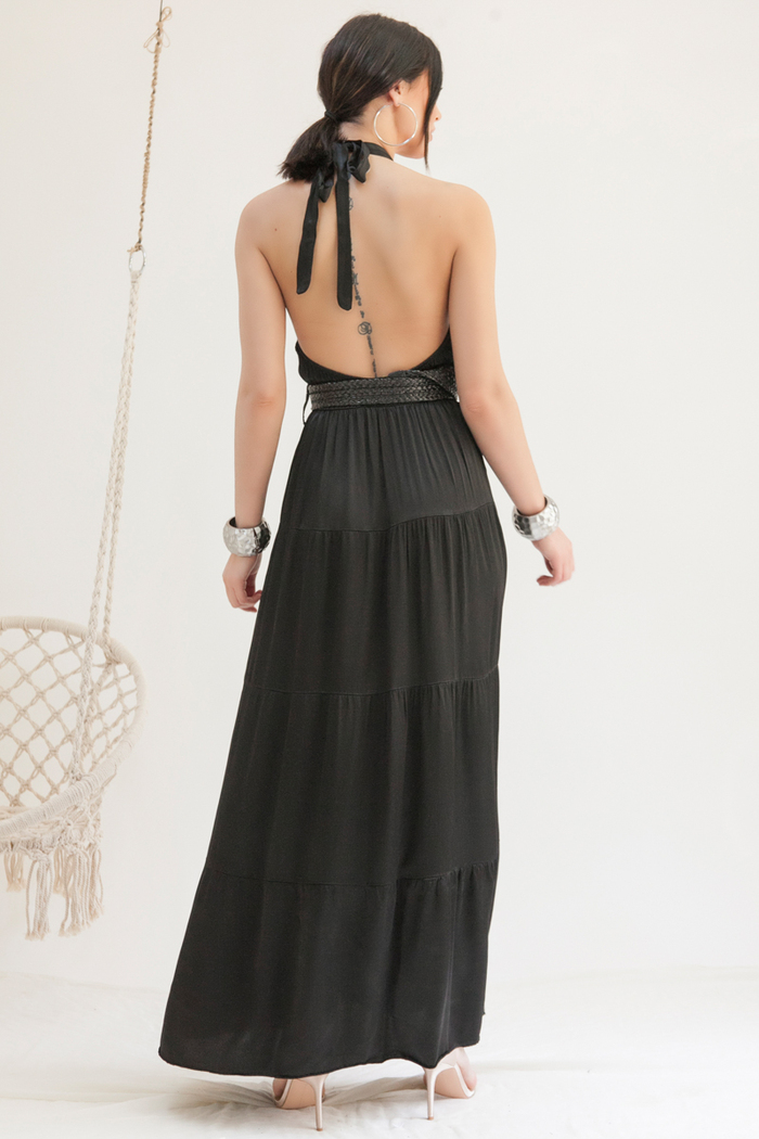 f4fa7f080df1 Φόρεμα maxi μαύρο