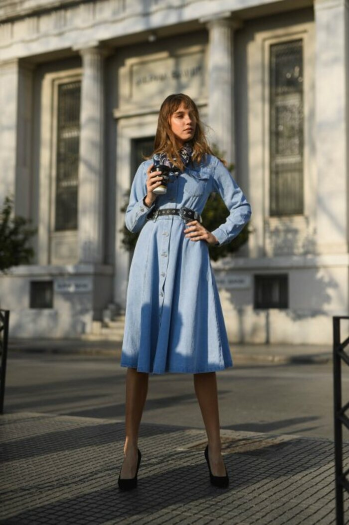 In denim dress you will look  gorgeous